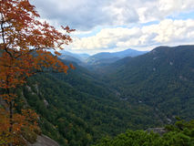 Valley landscape of Chimney Rock State Park, North Carolina Royalty Free Stock Photos