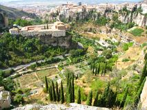 Valley landscape in the city of cuenca royalty free stock photo