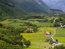 Valley Landscape Norway Stock Image