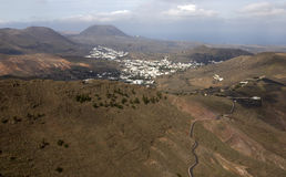 Valley on Lanzarote Stock Image