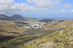 Valley on Lanzarote island Royalty Free Stock Images