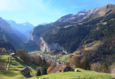 Valley of Lauterbrunnen Royalty Free Stock Images