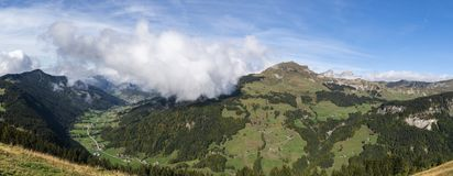 Valley Le Grand Bornand immagine stock
