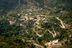 Valley on Lefkas island,Greece Royalty Free Stock Photography