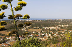 Valley of Leivathous at Kefalonia island Stock Image