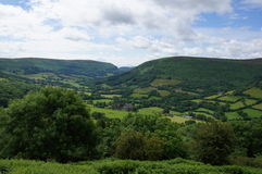 Valley of Llanthony priory Stock Image
