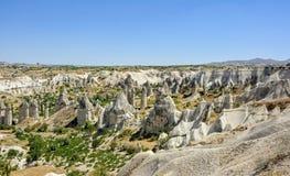 Valley of Locv, Cappadicia. Rock formations in Cappadocia, Turkey known as Valley of Love Royalty Free Stock Photos
