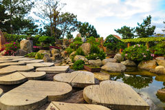 Valley of love, Dalat, Vietnam. Heart-shaped path in the botanical garden, valley of love, Dalat, Vietnam Stock Images