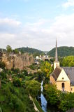 The valley of Luxembourg Royalty Free Stock Photos