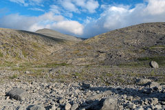 Valley of Mannepahk stream in Khibiny Mountains Royalty Free Stock Image