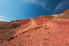 Valley of Mars landscapes royalty free stock photos