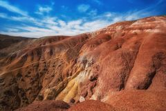 Valley of Mars landscapes Royalty Free Stock Photography
