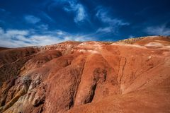 Valley of Mars landscapes Stock Image