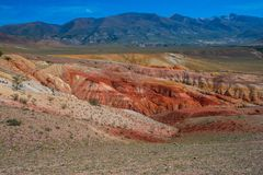 Valley of Mars landscapes Royalty Free Stock Image