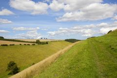 Valley meadows and footpath Royalty Free Stock Image