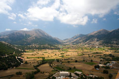 Valley in middle part of Crete, Greece Royalty Free Stock Photography