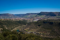 Valley of Millau city in France Royalty Free Stock Images