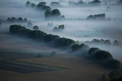 Valley in the mist Royalty Free Stock Images