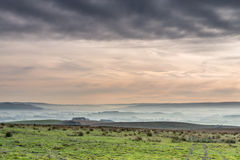 Valley of mist. Early morning mist in the Yorkshire Dales National Park Royalty Free Stock Photos