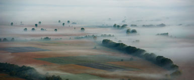 Valley in the mist Royalty Free Stock Photos