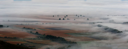 Valley in the mist Royalty Free Stock Photo