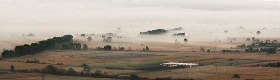 Valley in the mist Stock Image