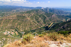 Valley at Montserrat Mountains Royalty Free Stock Photography