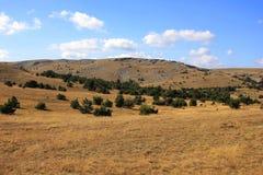 Valley on Mount Ai-Petri. Landscape of Mount Ai-Petri, Crimea, Autumn Stock Photo