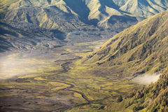 Valley at Mount Bromo in the morning Stock Photos