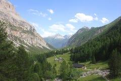 Valley in the mountain. A valley in the mountain Stock Photo
