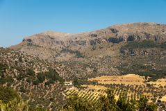 Valley and mountain in Majorca Stock Photography
