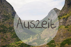 Valley And Mountain, Norway, Auszeit Means Downtime Stock Images
