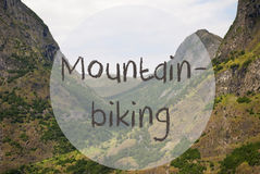 Valley And Mountain, Norway, Text Mountainbiking Royalty Free Stock Photography