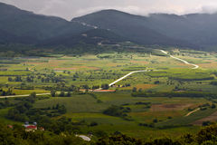 Valley at mountain Olympus in Greece Royalty Free Stock Photography