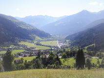 Valley with mountain village Royalty Free Stock Photo