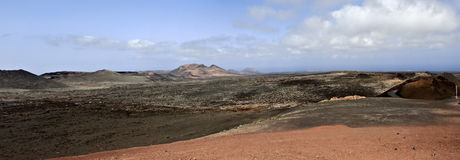 Valley with mountains. In Canary islands Stock Image