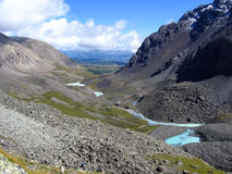 Valley in the Mountains. Valley in the Altai Mountains, Siberia, Russia Stock Photo