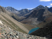 Valley in the Mountains. Valley in the Altai Mountains, Siberia, Russia Stock Photography