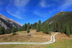 Valley in the mountains of Austria Royalty Free Stock Images
