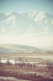 Valley and mountains landscape Royalty Free Stock Image