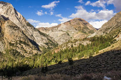 Valley & Mountains Leading Into Yosemite in Early Morning Royalty Free Stock Images