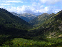 Valley in the Mountains. Valley in Sayan Mountains, Siberia, Russia royalty free stock photos