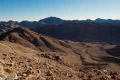 The valley among the mountains of Sinai Royalty Free Stock Images