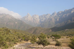 Valley and mountains. Socotra island Royalty Free Stock Photography