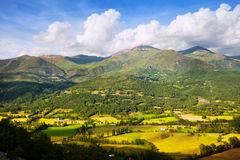 Valley at  mountains in summer day. Huesca Stock Photos