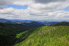 Valley in the mountains. In Tatras in Poland Royalty Free Stock Photos