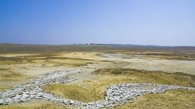 Valley Of Mud Volcanoes Near Kerch, Crimea stock video footage