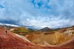 Valley National Park Landmannalaugar, Iceland Stock Images