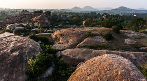 The valley near Hampi, Karnataka, India Royalty Free Stock Photography