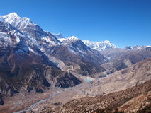Valley in Nepal stock images
